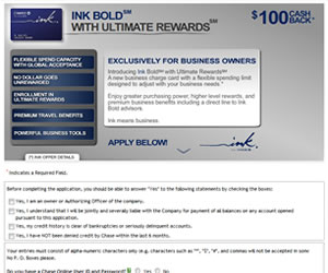 Ink Bold with Ultimate Rewards